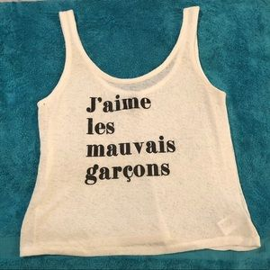 I love bad boys in French tank/crop top! Sz L!